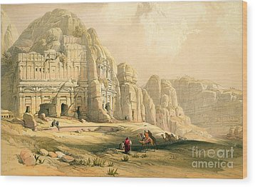 Petra Wood Print by David Roberts