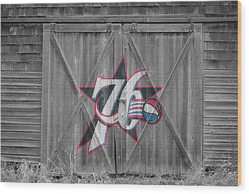 Philadelphia 76ers Wood Print by Joe Hamilton