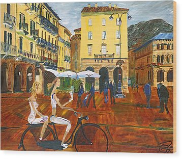 Piazza De Como Wood Print by Gregory Allen Page