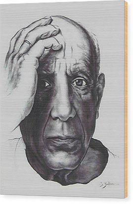 Picasso Wood Print by Guillaume Bruno