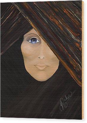 Wood Print featuring the painting Piercing The Veil  by Yolanda Raker