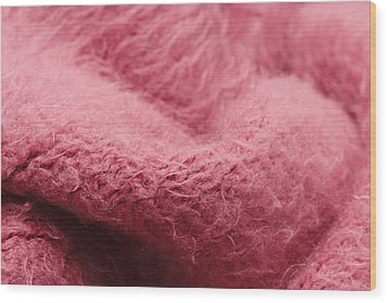 Pink Scarf Wood Print by Tom Gowanlock
