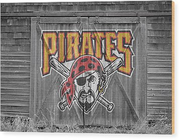Pittsburgh Pirates Wood Print by Joe Hamilton