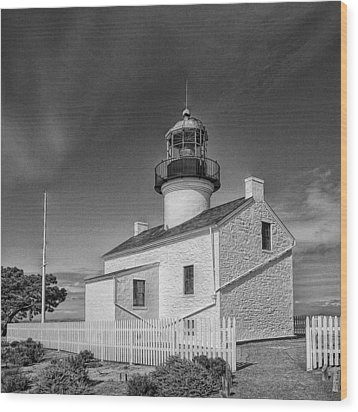 Point Loma Lighthouse Wood Print by Hugh Smith
