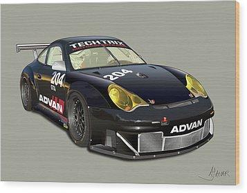 Porsche 996 Gt3 Rsr Wood Print