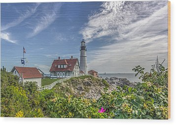 Wood Print featuring the photograph Portland Headlight by Jane Luxton