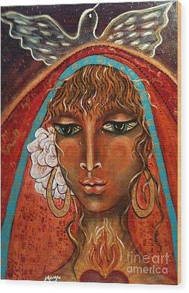 Pray For Peace Wood Print by Maya Telford