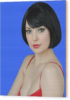 Pretty Woman Wood Print by Jim Poulos