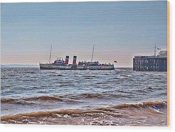 Ps Waverley Leaves Penarth Pier Wood Print by Steve Purnell