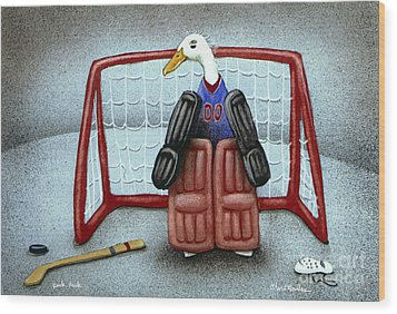 puck duck... by Will Bullas Wood Print by Will Bullas