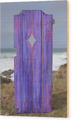 Purple Gateway To The Sea Wood Print by Asha Carolyn Young