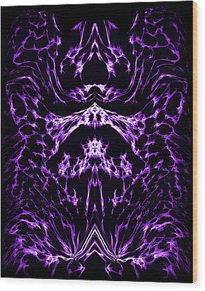 Purple Series 1 Wood Print by J D Owen