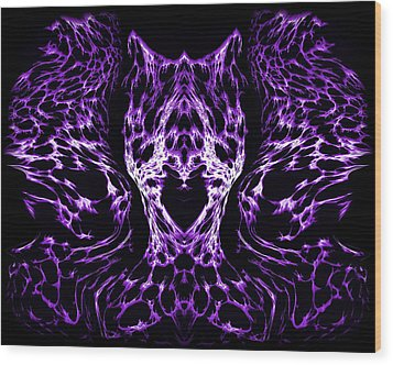 Purple Series 4 Wood Print