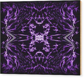 Purple Series 9 Wood Print by J D Owen
