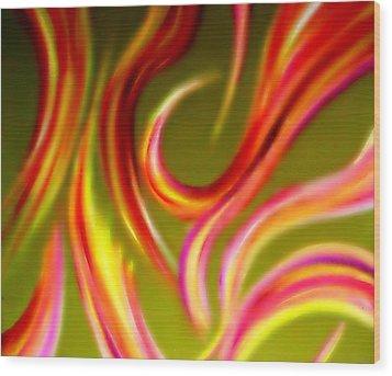 Pyromania Wood Print by Cyryn Fyrcyd