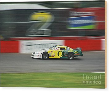 Wood Print featuring the photograph Racing Oregon Ducks Nascar by Tyra  OBryant