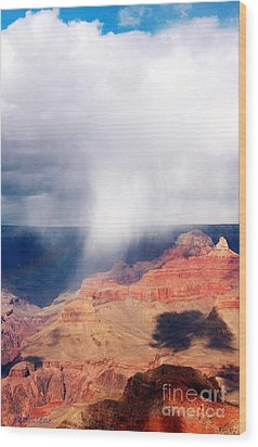 Raining In The Canyon Wood Print by Kathleen Struckle