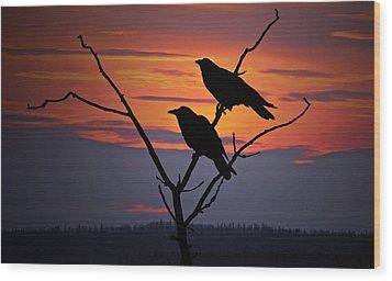 2 Ravens Wood Print