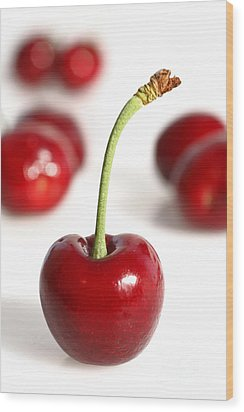 Red Cherries Wood Print