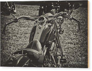 Red Harley Davidson Wood Print by Wilma  Birdwell
