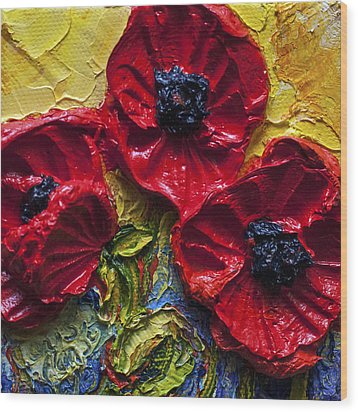 Red Poppies Wood Print by Paris Wyatt Llanso