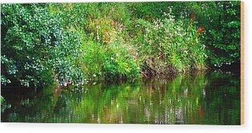 Riverside Reflections Wood Print
