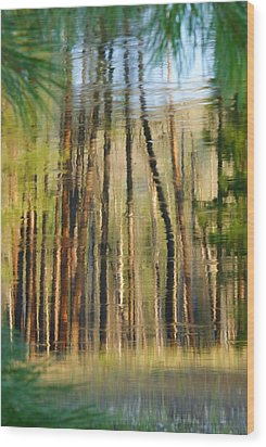 Reflections On The River Wood Print