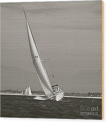 Wood Print featuring the photograph Regatta by Nicola Fiscarelli