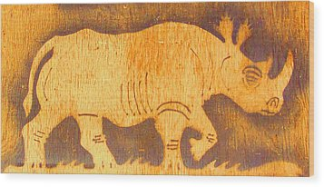 Wood Print featuring the photograph Rhino by Larry Campbell
