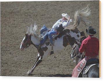 Ride Em Cowboy Wood Print by Jeff Swan