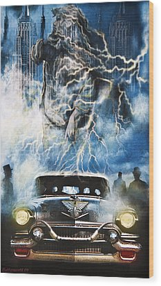Riders On The Storm Wood Print by Larry Butterworth