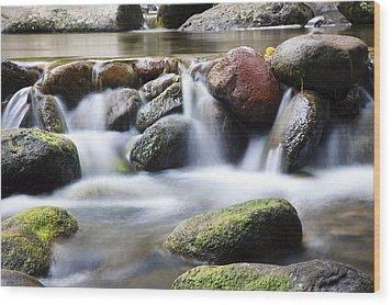 River Rocks Wood Print by Jenna Szerlag