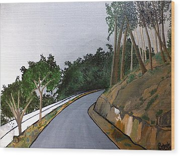 Road To The Hills Wood Print