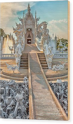 Rong Khun Temple Wood Print by Adrian Evans