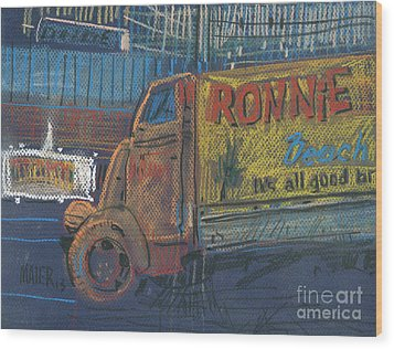 Wood Print featuring the painting Ronnie John's by Donald Maier