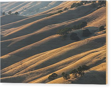 Round Valley Ridges Wood Print
