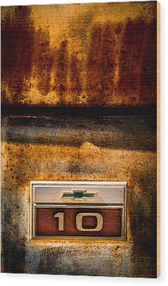 Rusted C10 Wood Print