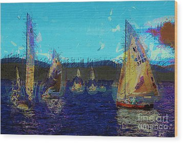 Wood Print featuring the photograph Sailing Day  by Julie Lueders