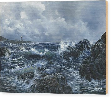 Wood Print featuring the painting Sailor's Light by Lynne Wright
