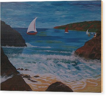 Wood Print featuring the painting Sails by Judi Goodwin