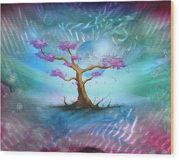 Sakura Wood Print by Luis  Navarro