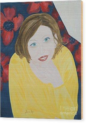 Sana. Inspirations Collection. Wood Print by Oksana Semenchenko