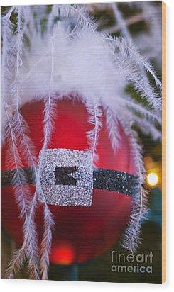 Santa Claus Ornament Wood Print by Birgit Tyrrell