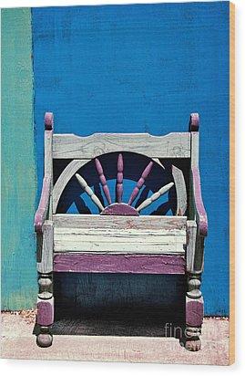 Santa Fe Chair Wood Print by Elena Nosyreva