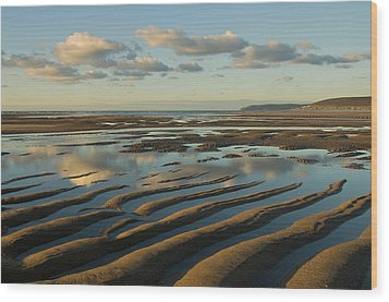 Saunton Sands Devon Wood Print by Pete Hemington