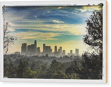 Scene @ Los Angeles Wood Print