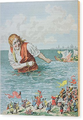 Scene From Gullivers Travels Wood Print by Frederic Lix