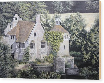 Wood Print featuring the painting Scotney Castle by Rosemary Colyer