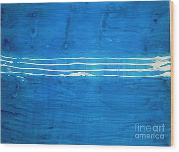 Wood Print featuring the painting Seascape by Fereshteh Stoecklein