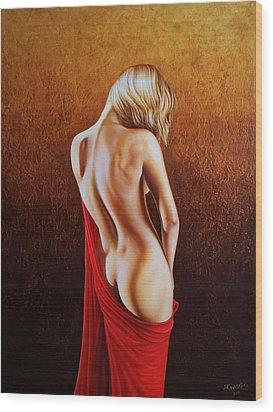 Secrets Of The Red Veil Wood Print by Horacio Cardozo